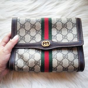 Gucci Vintage Ophidia Clutch Pouch Crossbody bag